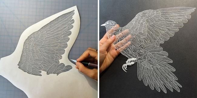 В умелых руках бумага становится произведением искусства