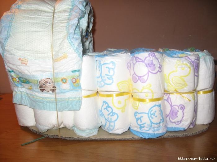 Как можно сделать памперсы своими руками видео для беби бона