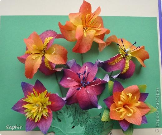 Поделка изделие Бумагопластика цветы из гофробумаги  мастер-класс Бумага гофрированная фото 13