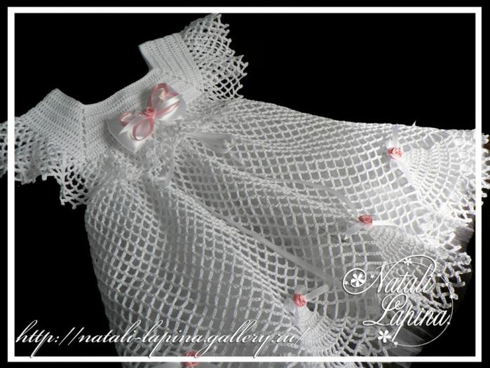Платье для крестин на девочку крючком