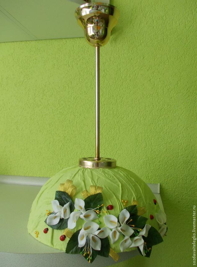 Как декорировать старую люстру