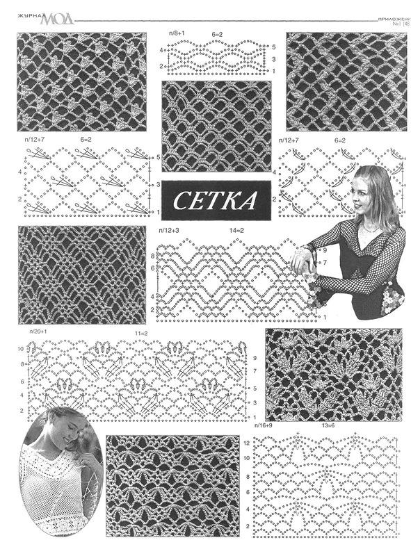 112 Узор ажурная сетка спицами узоры Pinterest Knitting 61