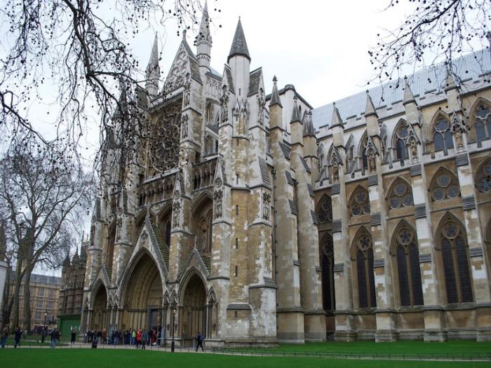Вестминстерское аббатство в Лондоне.