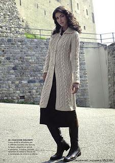 Пальто спицами - небольшая подборка