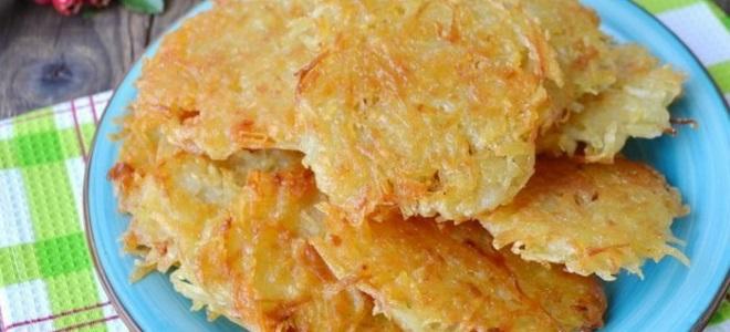 драники в духовке из картошки рецепт