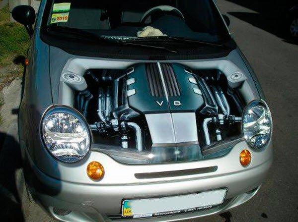 3D шедевры на капотах автомобилей