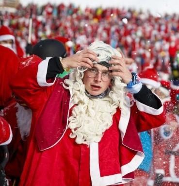 Санта-клаусы поставили рекорд