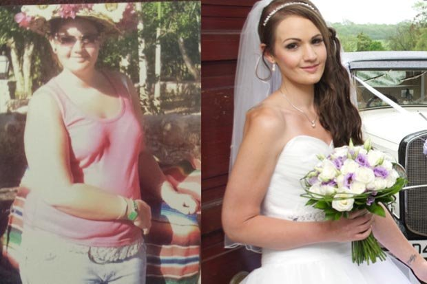The dream dress diet! Bride loses FIVE STONE to fit into size eight wedding gown