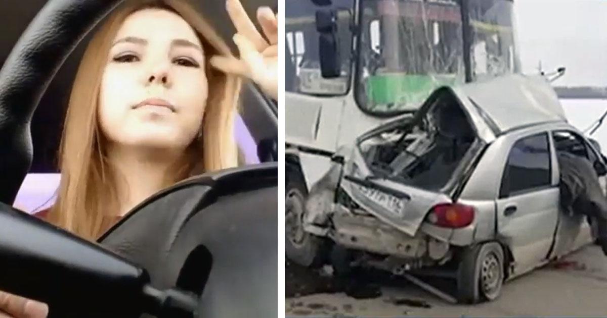 Жуткая трагедия на дороге - как результат онлайн-общения за рулем (видео)