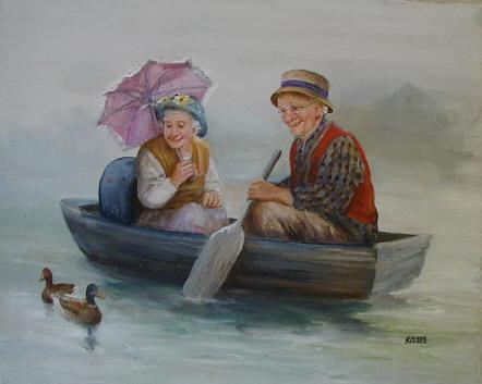 Dianna Denпgel - американская художница , рисующая пальцами пожилых бабушек и дедушек