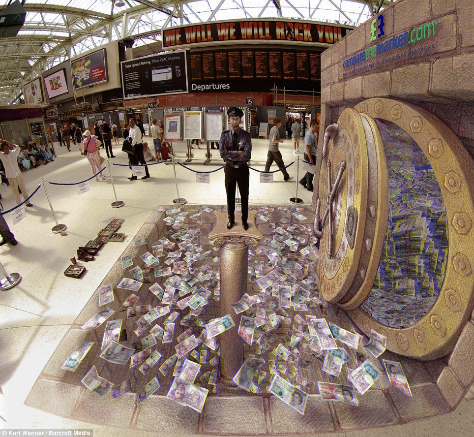 kurt wenner 14 Трехмерное уличное искусство Курта Веннера