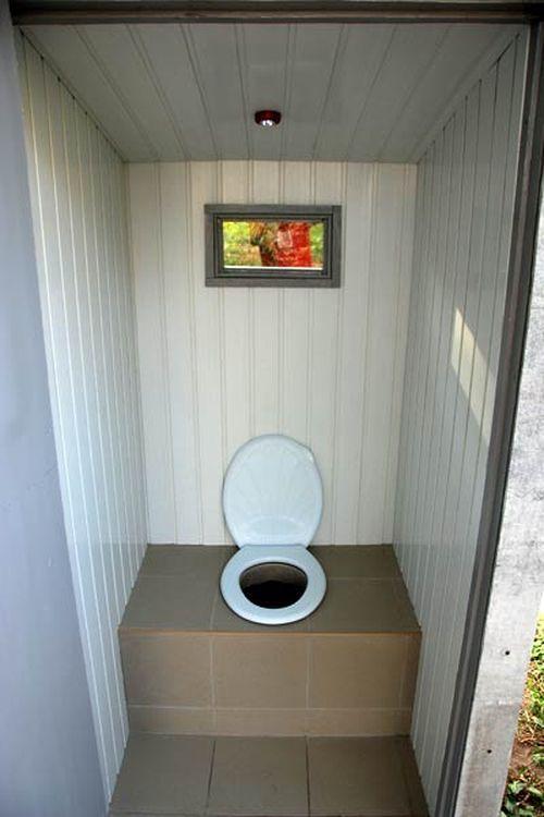 Деревянные дачные туалеты 76