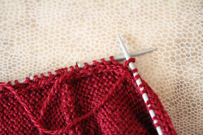 Вязание на спицах рукава сверху от плеча спицами 536