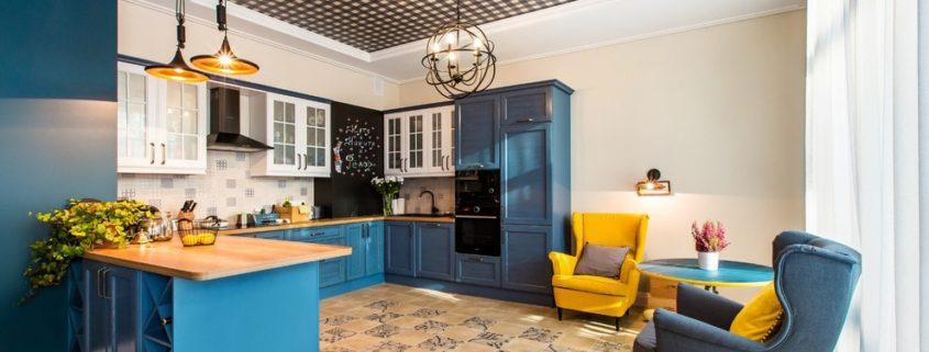 Натяжные потолки для кухни: …