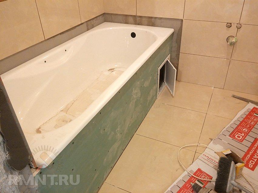 Как и из чего сделать экран для ванной своими руками