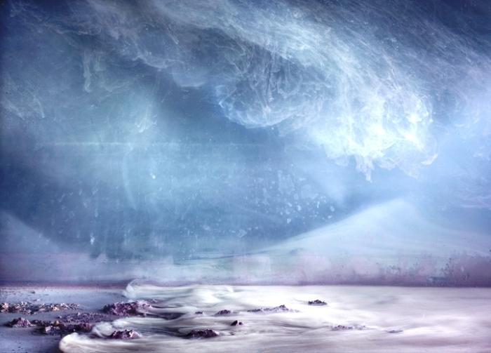Северное сияние. Автор: Kim Keever.