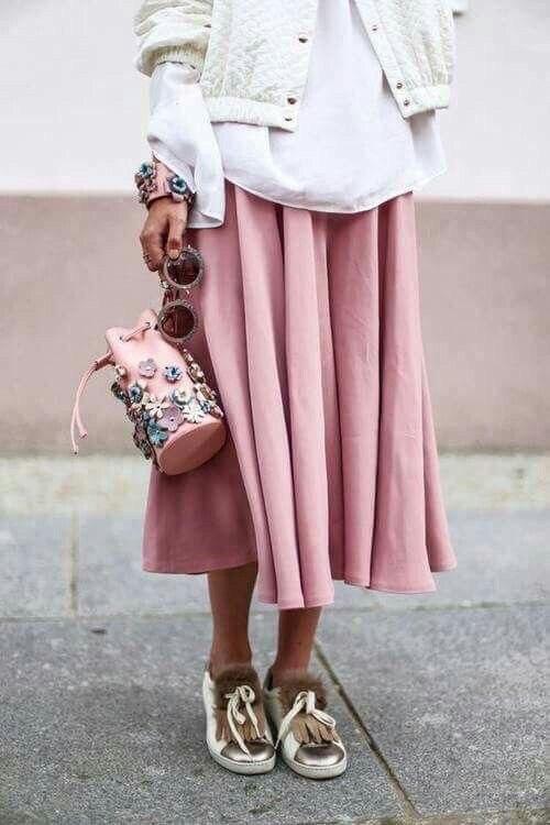 Как носить юбку макси?