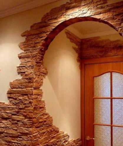 Декор стен камнем своими руками 45
