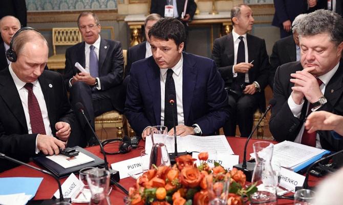 Путин и Порошенко встретились за завтраком в Милане