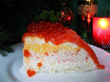 """Закусочный торт """"Рыбацкая удача"""""""