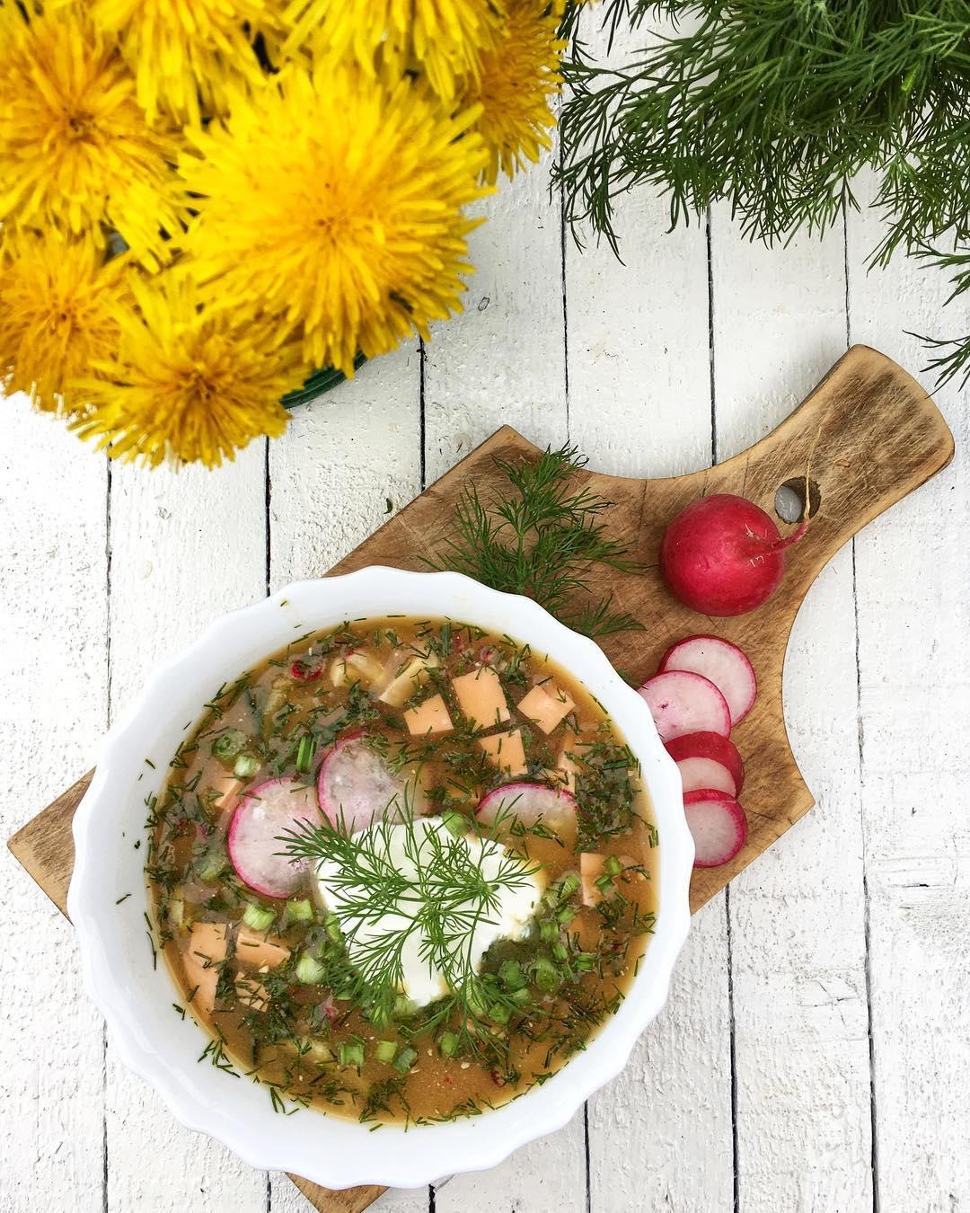окрошка на квасе рецепт вкусный суп