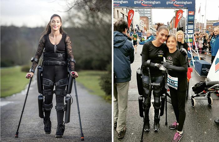 """""""Моя мама - робокоп"""": женщина получила экзоскелет, позволивший ей снова ходить"""