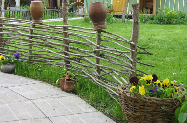Плетень для сада