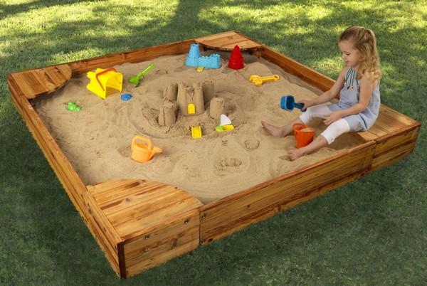 песочница для детей на дачу