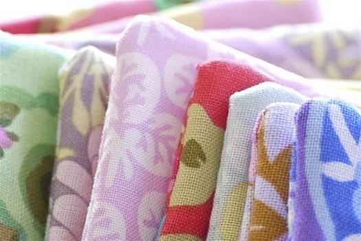 квадраты для шитья одеяла крупным планом