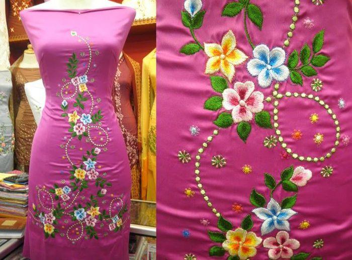 Вышивка для платья 34