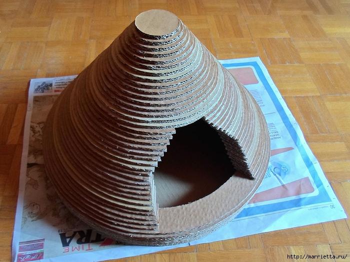 Кошкин домик из картона. Мастер-класс (31) (700x525, 310Kb)
