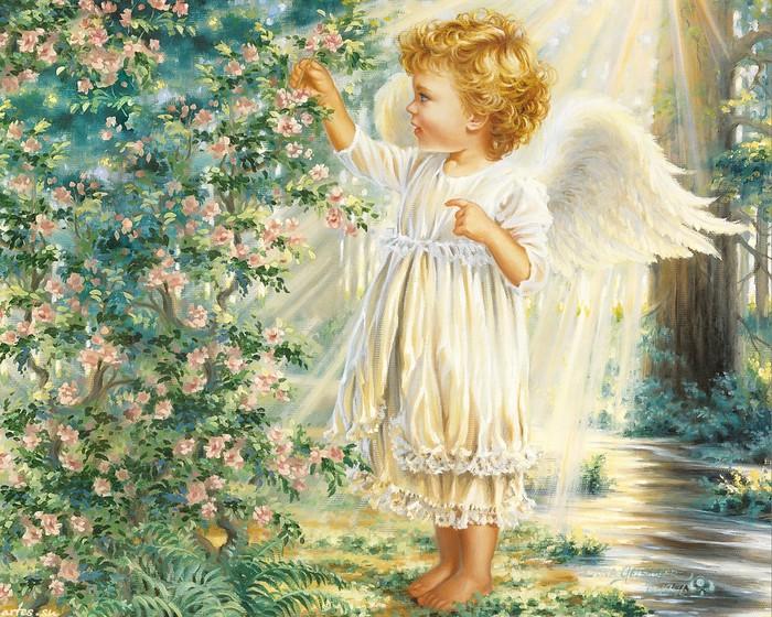 обои на рабочий стол ангелочки дети № 114870 бесплатно