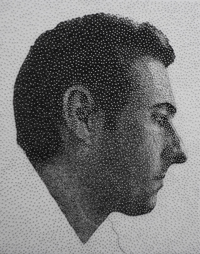 Картины из нитей и гвоздей