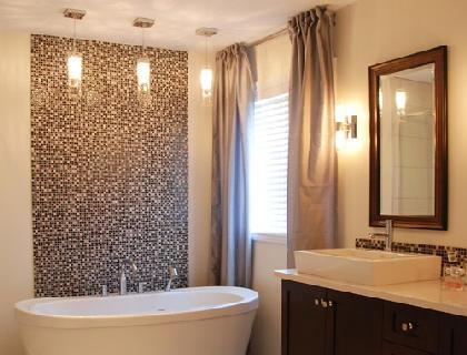стеклообои фото в ванной комнате