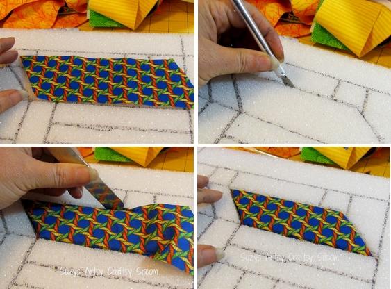Как сделать картину из ткани