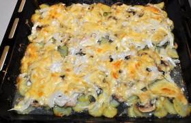 Филе с шампиньонами и картошкой в духовке рецепт