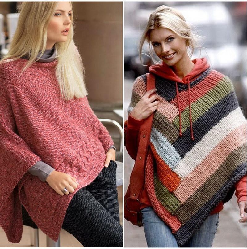 Модные пончо для женщин 147