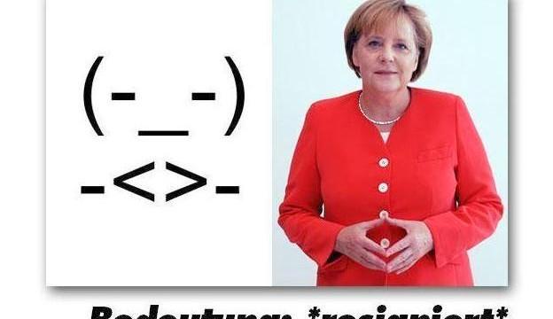 У Ангелы Меркель появился собственный смайл
