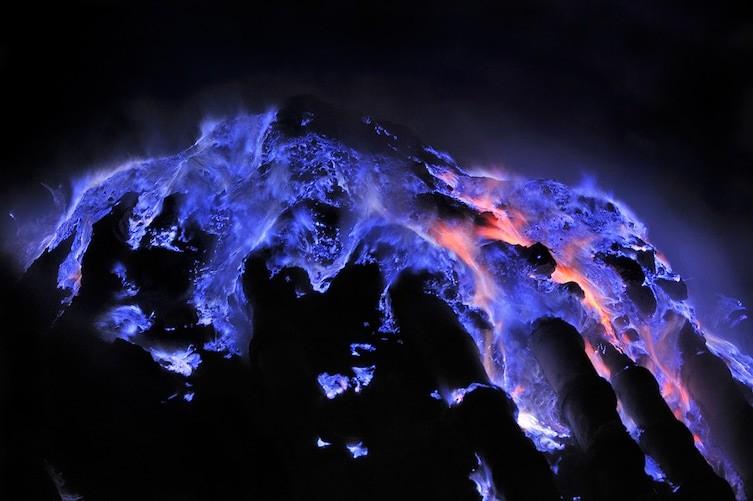 Синяя лава необычное, природа, удивительное
