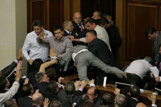 Одичавшие украинские политик…
