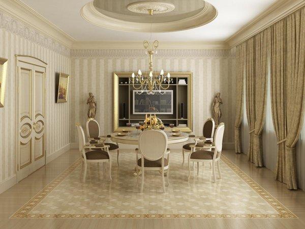 Дизайны столовых комнат