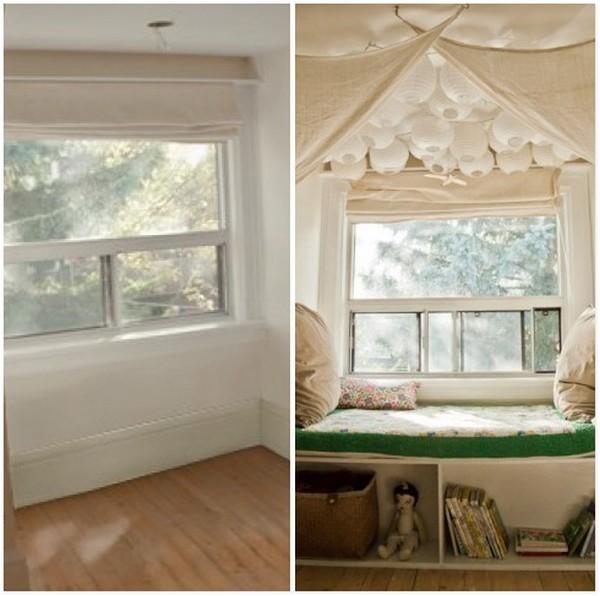 Очень красивый и оригинальный уютный уголок у окна