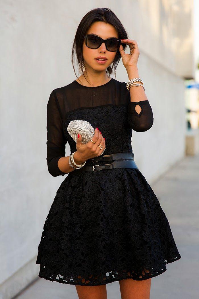 Фото черных стильных платьев