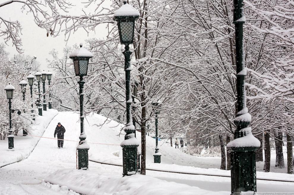 Москва после снегопада