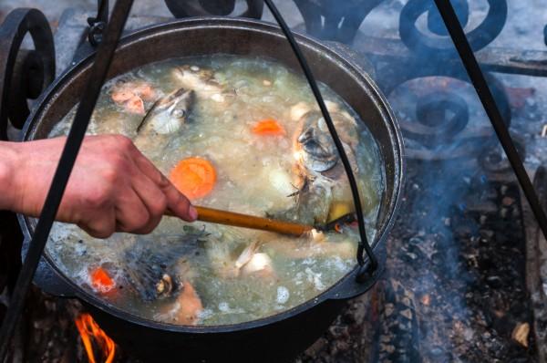 как приготовить правильную уху на рыбалке