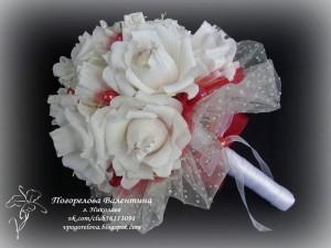 Букет невесты своими руками из гофрированной бумаги 33