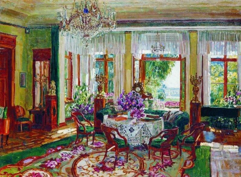 """""""Большая гостиная в Брасове"""", 1916, холст, масло"""