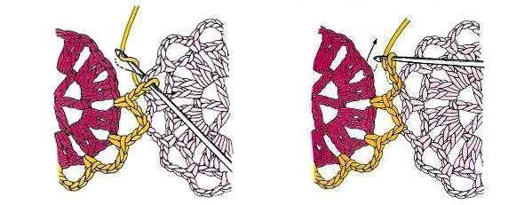 соединение мотивов крючком