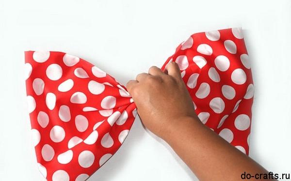 Бант из ткани большой своими руками
