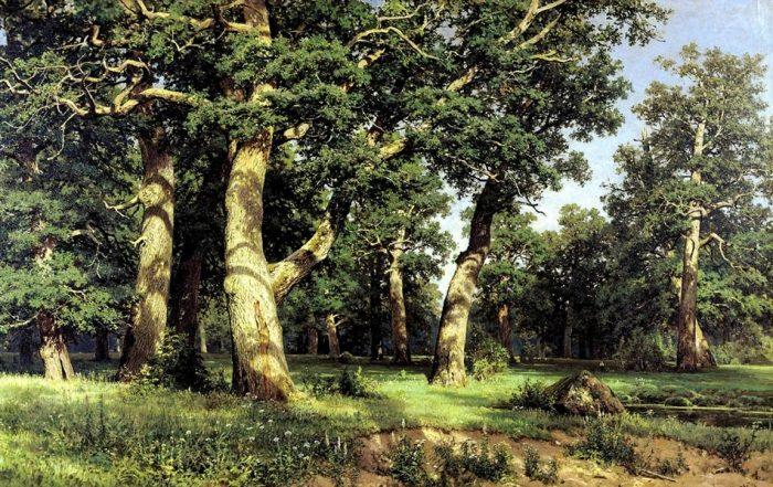 живопись лес – 01